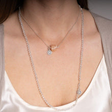 "Load image into Gallery viewer, Set of Mountain Crystal and Topaz Silver Necklace and Bracelet ""Pure"" - Petit Secret"