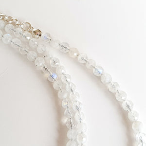 "Moonstone Silver Necklace for Women ""Intuition"" - Petit Secret"