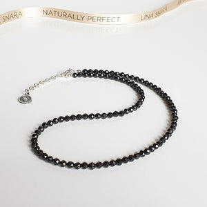 "Set of Spinel Silver Necklace and Bracelet ""Evolution"" - Petit Secret"