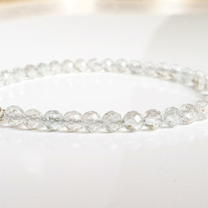 "Mountain Crystal and Topaz Silver Bracelet ""Pure"" - Petit Secret"