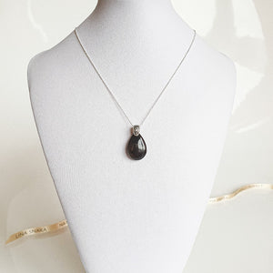 "Black Golden Sun Stone AA+ Silver Pendant ""Joy and Success"""