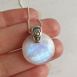 "Moonstone from India, AAA+ grade pendant ""Intuition"""