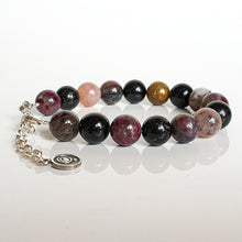 "Load image into Gallery viewer, Tourmaline Silver Bracelet for Women ""Harmony"""