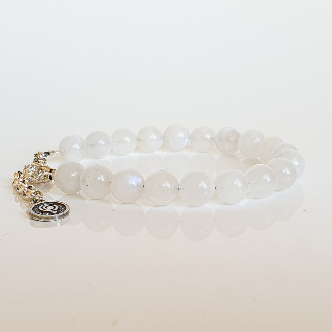 Moonstone AA+ Silver Bracelet for Women