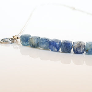 "Kyanite AA+ from Brasil Silver Necklace ""Elevation"""