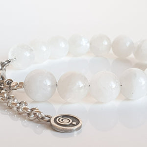 "Moonstone A+ Silver Bracelet for Women ""Intuition"""