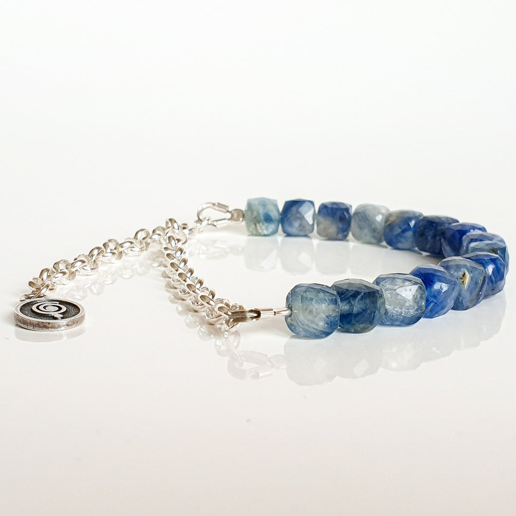 Kyanite AA+ from Brasil Silver Bracelet