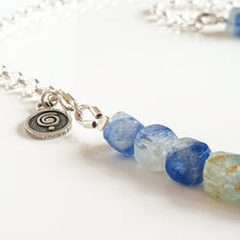 "Load image into Gallery viewer, Kyanite AA+ from Brasil Set of Silver Bold Puzzle Necklace and Bracelet ""Elevation"""