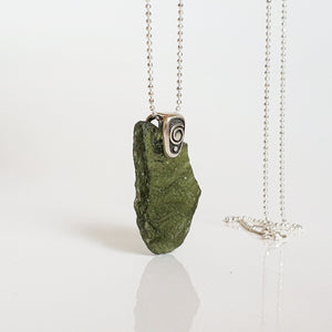 "15 mln years Moldavite Pendant ""Stone of greatness"""