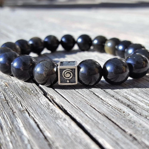 Obsidian Bracelet for Men - The Light | Lina Snara