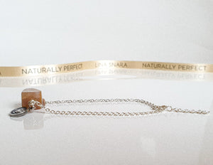 "Sun Stone Cube Silver Bracelet ""Joy and Success"""