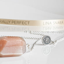 "Load image into Gallery viewer, Sun Stone Long Silver Necklace ""Joy and Success"""