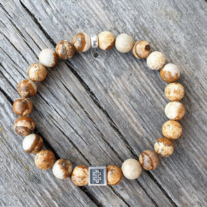 Picture Jasper Bracelet for Men - Vytis | Lina Snara