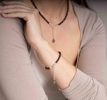 "Load image into Gallery viewer, Red Garnet Silver Bracelet for Women ""Vitality"" - Petit Secret"
