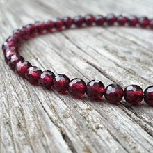 Load image into Gallery viewer, Red garnet Bracelet for Women - Naturally Perfect | Lina Snara