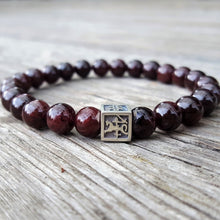 Load image into Gallery viewer, Red Garnet Bracelet for Men - Vytis - 8mm | Lina Snara
