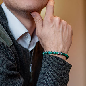 Malachite Bracelet for Men - Vytis | Lina Snara