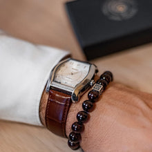 Load image into Gallery viewer, Red Garnet Bracelet for Men - Vytis - 10mm | Lina Snara
