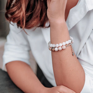 Moonstone Bracelet for Women - The Light - Round | Lina Snara