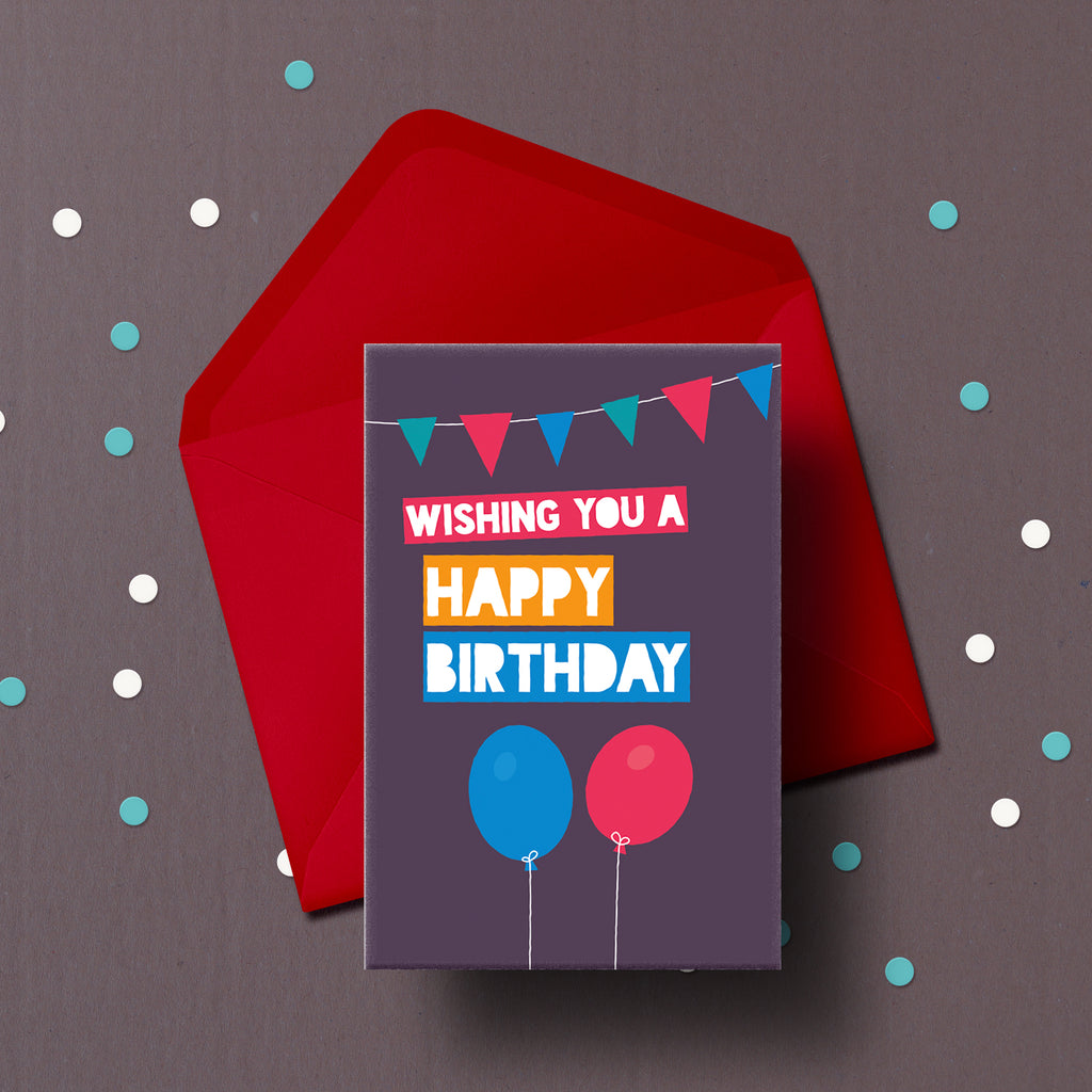 Happy Birthday card to be delivered with a cake.