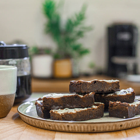 Saucy Barista brownies delivered to you.