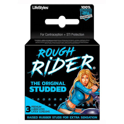 Rough Rider Original Studded Latex Condoms 3pk