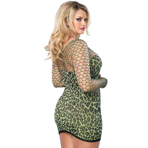 Leg Avenue Seamless Leopard Minidress UK 18 to 22