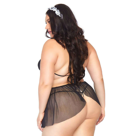 Leg Avenue Roleplay Fantasy French Maid Plus Size UK 18 to 22