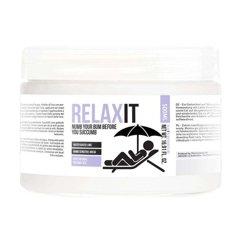 Relax It Numb Your Bum Before You Succumb Lubricant 500 ml