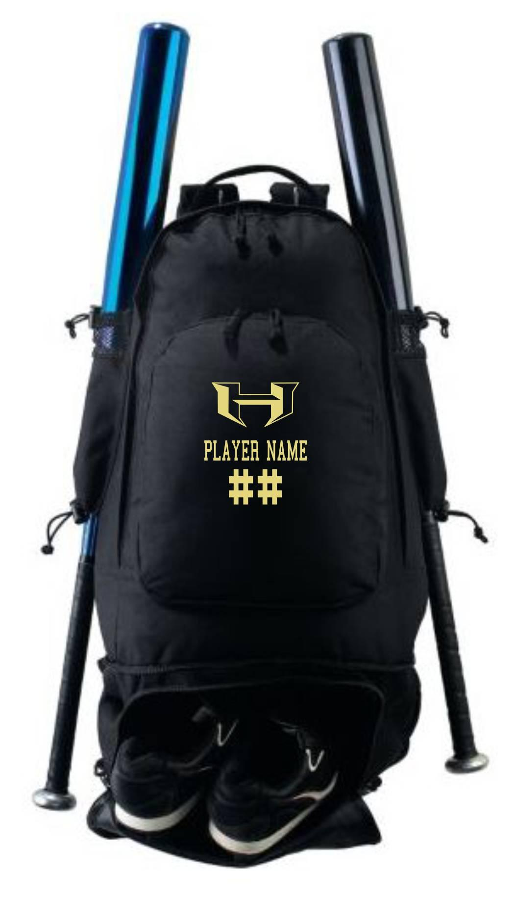 Personalized Expandable Bat Backpack- Hubbard