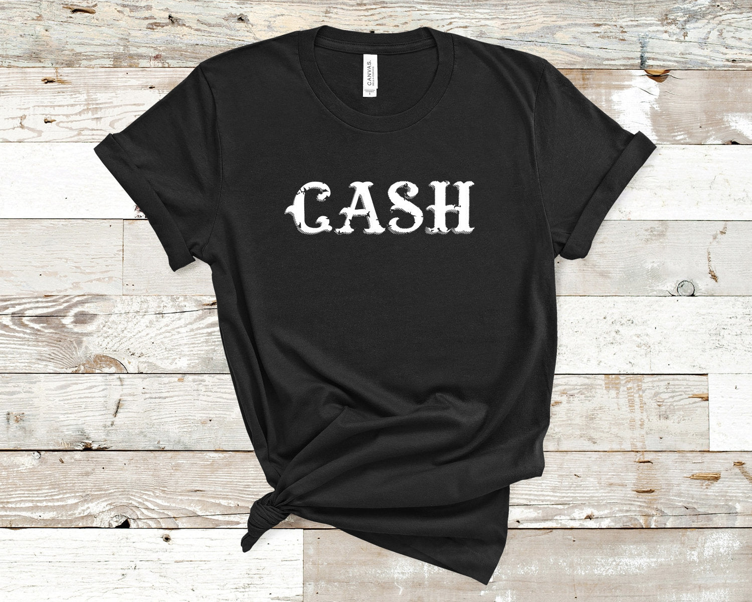 CASH shirt- Johnny Cash Shirt- Vintage Rock shirt- Vintage Country shirt-