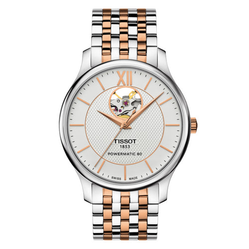 Tissot Tradition Powermatic 80 Open Heart T-Classic Automatic Mens Watch