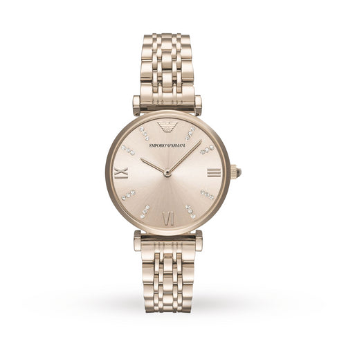 Emporio Armani AR11059 Ladies Blush Rose Gold Stainless Steel Watch