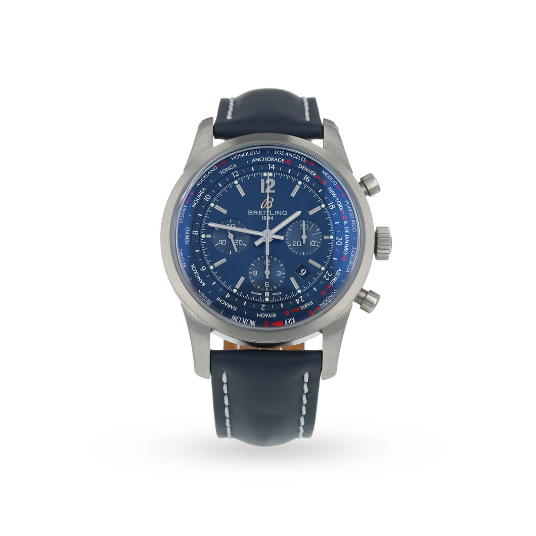 Pre-Owned Breitling Transocean Mens Watch AB0510