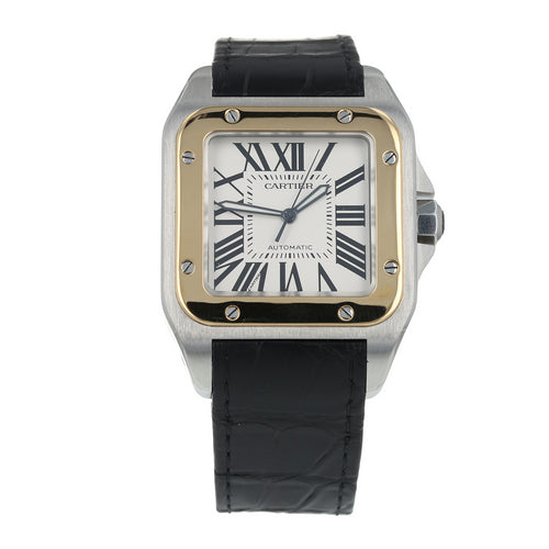 Pre-Owned Cartier Santos Mens Watch W20072X7/ 2656