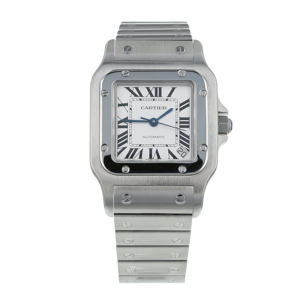 Pre-Owned Cartier Santos Galbee Mens Watch W20098D6/ 2823