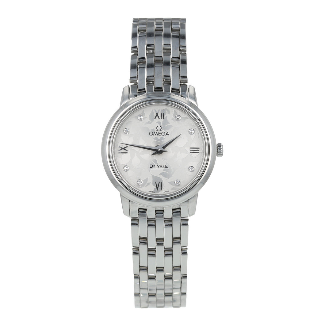 Pre-Owned Omega De Ville Butterfly Prestige Ladies Watch 424.10.27.60.52.001