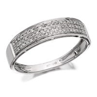 9ct White Gold Diamond Band Ring - 15pts - D7270-S