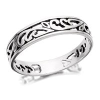 Silver Filigree Band Ring - 5mm - F5479-N