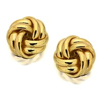 9ct Gold Knot Earrings - 10mm - G0126