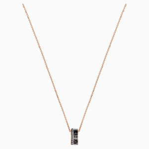 Alto Pendant, Grey, Rose-gold tone plated