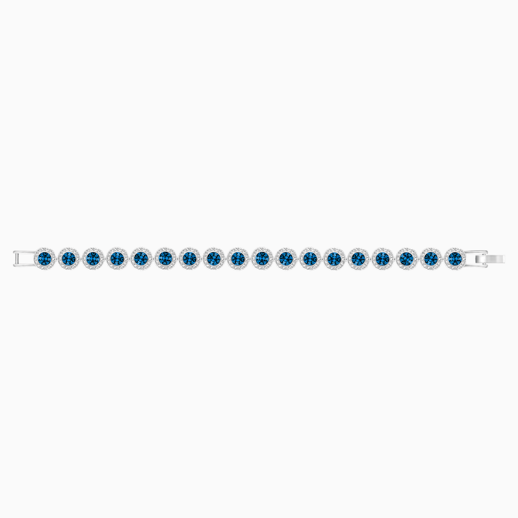 Angelic Bracelet, Blue, Rhodium plated