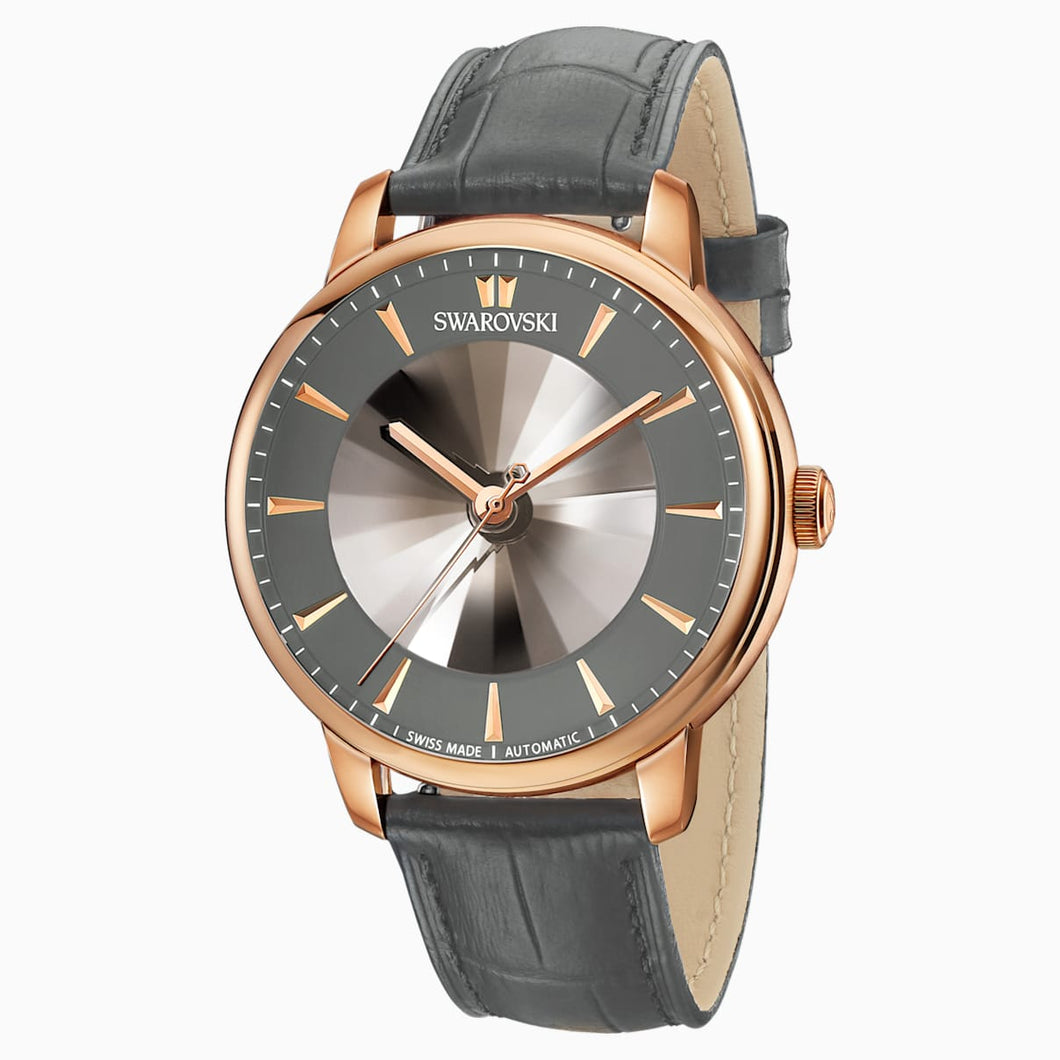 Atlantis Limited Edition Automatic Men's Watch, Leather strap, Gray, Rose-gold tone PVD