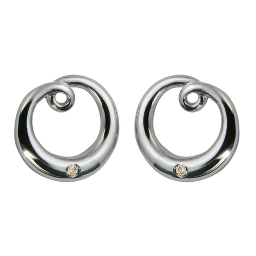Illusion Silver Earrings