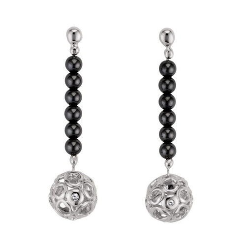 Bali Hemitate Stiletto Orb Earrings