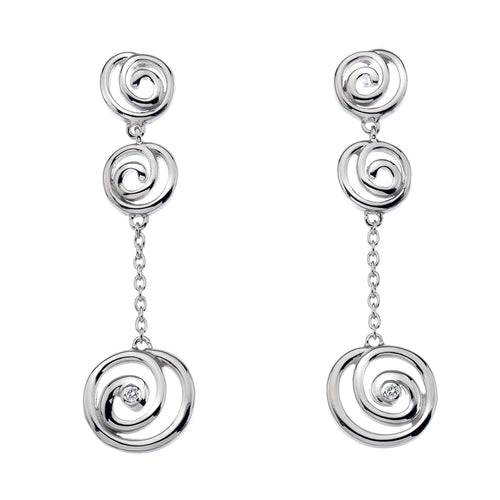 Eternity Spiral Drop Earrings