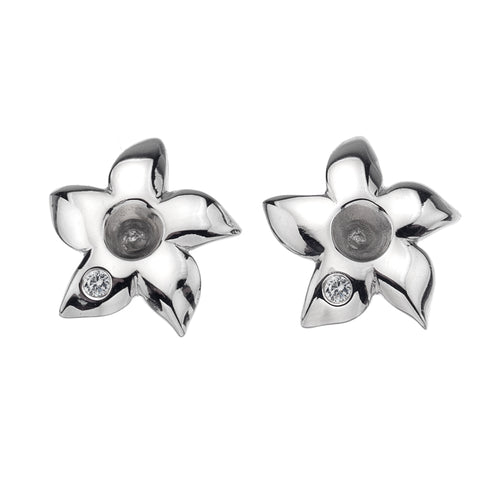 Diamonds for all Seasons Stephanotis Earrings