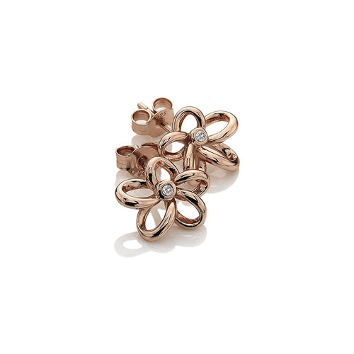 Paradise Open Petal Stud Earrings - Rose Gold Plated
