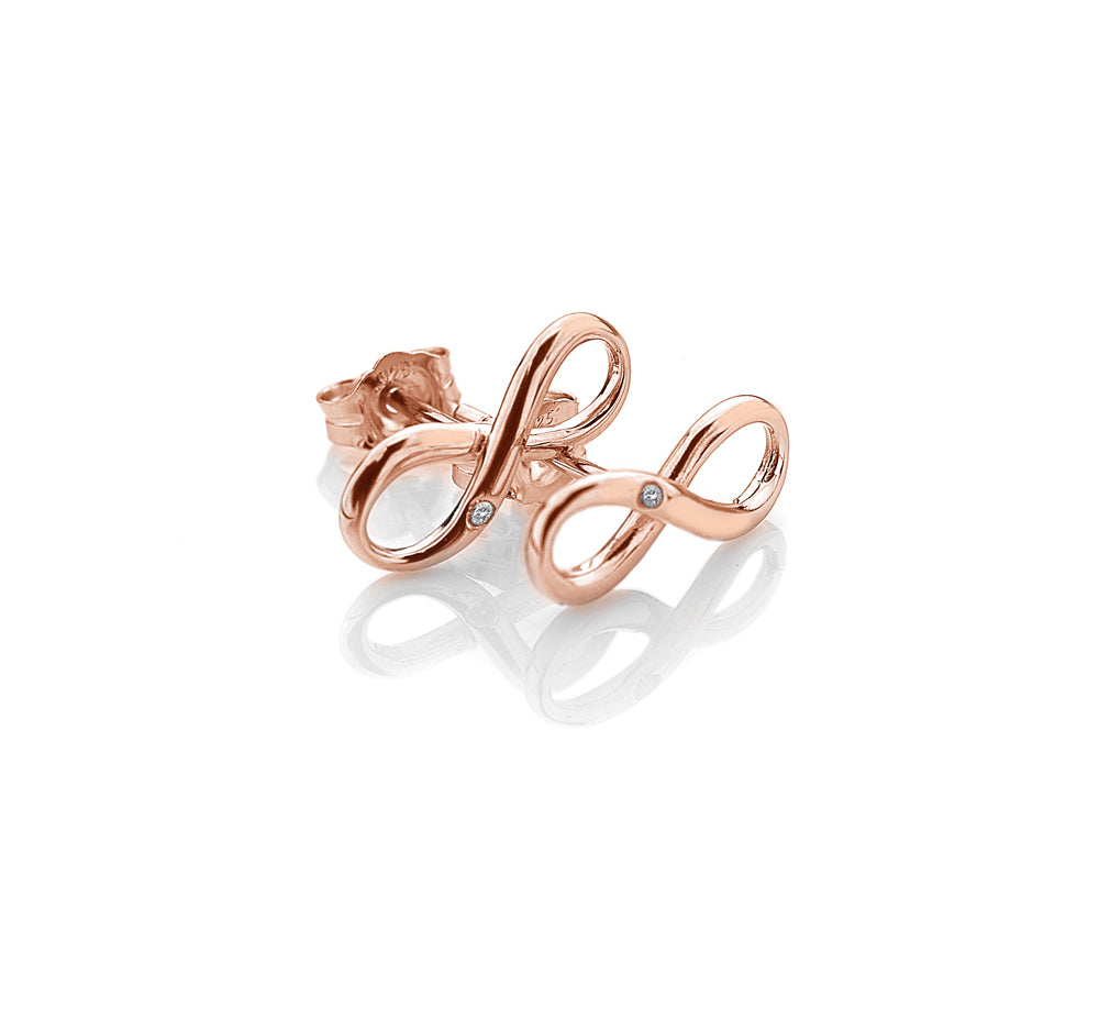 Infinity Earrings - Rose Gold Plated