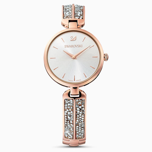 Dream Rock Watch, Metal bracelet, Silver Tone, Rose-gold tone PVD